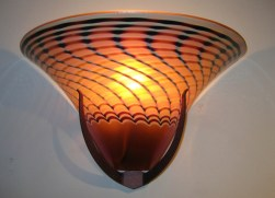 Flared Wall Sconce Artist: Jensen-Hurd Studio Catalog: 895-91-9