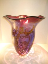 Purple and Ruby Seascape Vase Artist: Dutch Schulz Catalog: 601-66-61