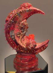 Harvest Moon Cast Glass 24x19x7.5 Artist: Susan Gott