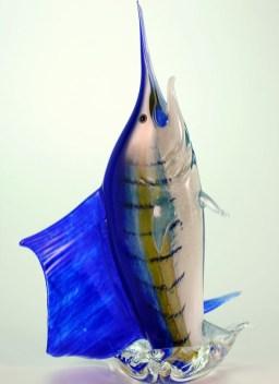 Leaping Sailfish Hand Blown Glass Artist: Hopko