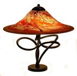 "Paprika Lamp Artist: Joel Bless 29"" H x 22"" D Glass Lamp"