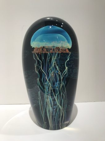Blue Moon Pacific Coast Double Seascape Jellyfish Artist: Satava 8""