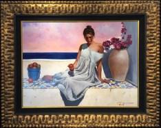 "Eve Original Oil on Board Artist: Picart 26"" x 36"" F38"" x 47"""