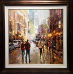"San Francisco City Scape Original Oil on Canvas Artist: Jarvis 36"" x 36"" #21247"