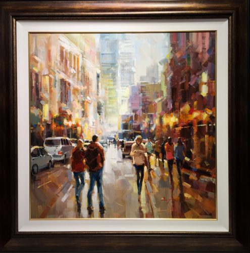 "San Francisco City Scape Original Oil on Canvas Artist: Jarvis 36"" x 36"" #21247"