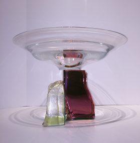 """Dichroic Glass Bowl Dichroic Glass Artist: Steve Maslach 14.5"""" x 9"""" #21024"""