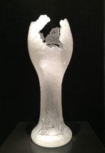 Santana Four Seasons Hand Blown Etched Glass Artist Gustav Santana #21148