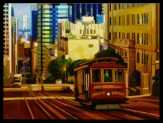 California Street Oil on Canvas, Russ Wagner 30x40 C21330