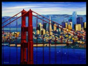 Golden Gate Oil on Canvas, Russ Wagner 30x40 C21329
