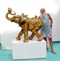 Nano Lopez with Bobby Life Size, Bronze, Nano Lopez, 2'w x 4'l x 3'h Edition Size 143