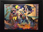Ritmo de la noche, Original Acrylic on Canvas, Artist: Tadeo 36x48