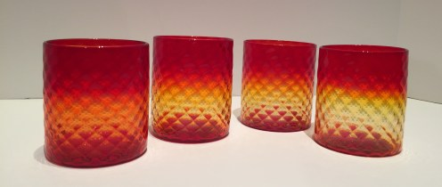Red Tumbler Glass - Available Individually, Artist: Kenny Pieper 4x3
