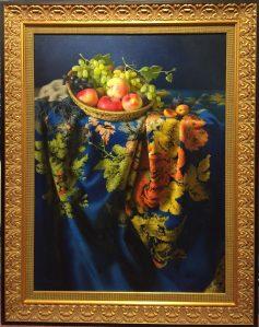 Rhapsody in Blue, Origial Oil on Canvas Artist: Hyarba, M 33x25 Inv.#20839