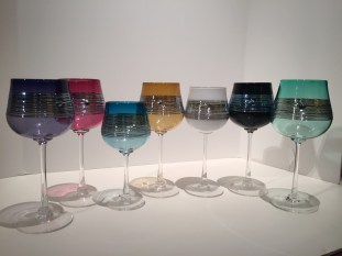 Silver Spun Wine Goblet, Hand-Blown Glass, Artist: Martin Mihn Available in: Amethyst, Ruby, Aqua, Amber, White, Black, Emerald