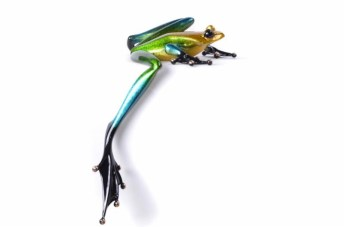 "Blue and Green Patina, Lady Spencer, Medium: Bronze, Artist: Tim Cotterill, Edition Size: 300, 8""L x 11""W x 11.5""H"