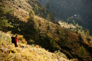 Klesání ke Gollinghütte