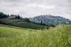 Jeden z posledních pohledů na Montepulciano