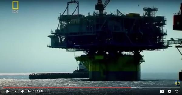 شاهد فيديو أضخم منصة حفر ابار بترول وغاز طبيعى فى العالم
