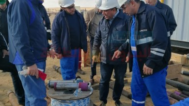 صورة «بالصور».رئيس شركة «ويبكو للبترول» يتفقد أعمال حفر البئر الاستكشافي 9_8 Bed و البئر التنموي Bed 1-38 بموقع «بدر-١»