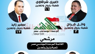 "Photo of السويس تؤيد ابنائها ""وائل فراج وحمدي أنور"" فى انتخابات نقابة المهندسين"