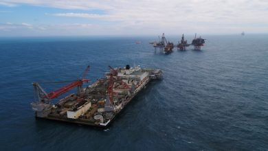 Photo of Giant Pioneering Spirit vessel put in charge of removal and disposal at Valhall