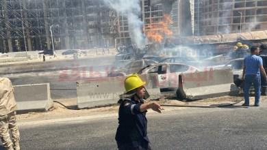 Photo of البترول: سيارة نقل المواد البترولية المشتعله بدائرى المعادى لاتتبع شركات القطاع