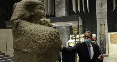 قبل افتتاحه.. وزير السياحة والآثار يضع اللمسات النهائية لمتحف عواصم مصر (صور)