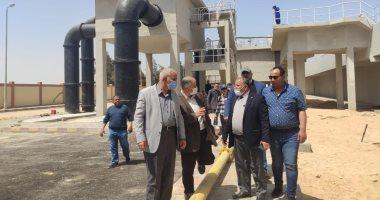 مسئولو الإسكان يتفقدون الوحدات السكنية ومشروعات المرافق والطرق بمدينة السادات