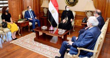 وزيرة التجارة تبحث مع رئيس المجلس الاقتصادى اللبنانى تعزيز التعاون المشترك
