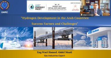 """خبير بـ"""" أوابك"""": المنطقة العربية واعدة للاستثمار بامتياز فى الهيدروجين"""