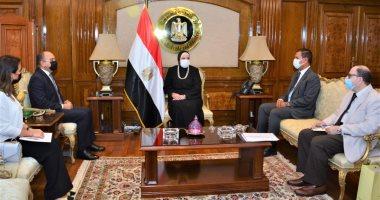 وزيرة التجارة تبحث مع سفير الأردن بالقاهرة تعزيز التعاون الاقتصادي المشترك