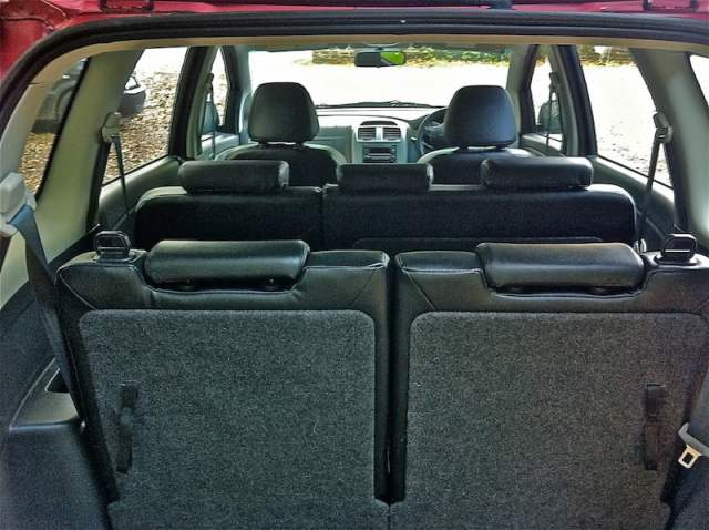 Proton Exora seats from the back