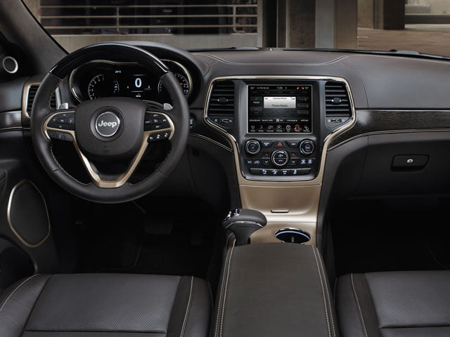 Interior of new 2013 Jeep Grand Cherokee