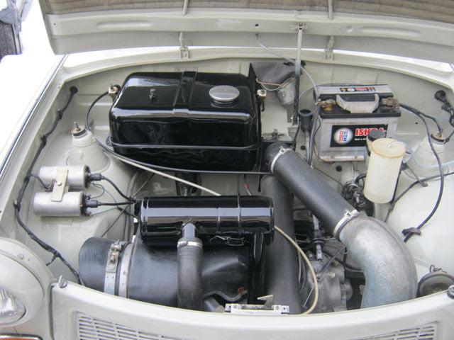 Right-hand drive Trabant 601 engine bay