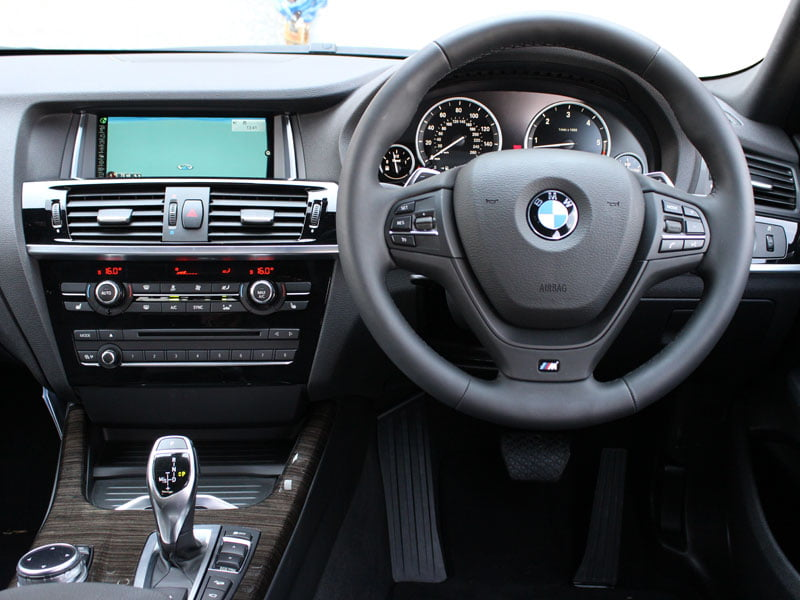 Interior of new BMW X4 xDrive 30d