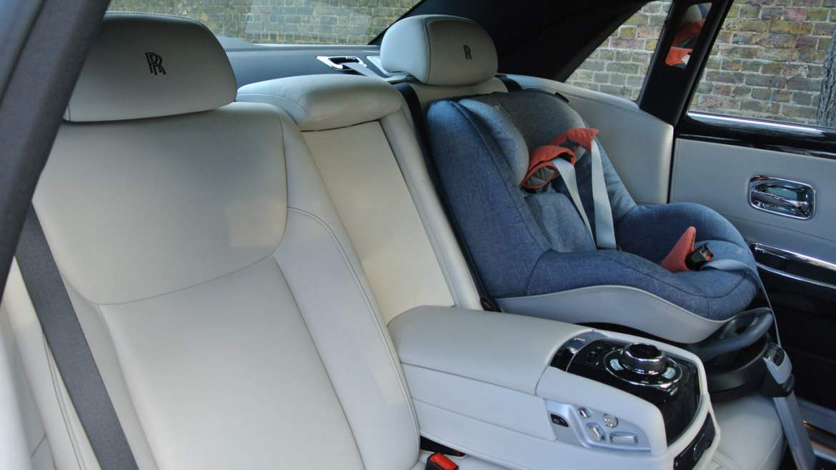 Rolls-Royce Ghost and baby seat
