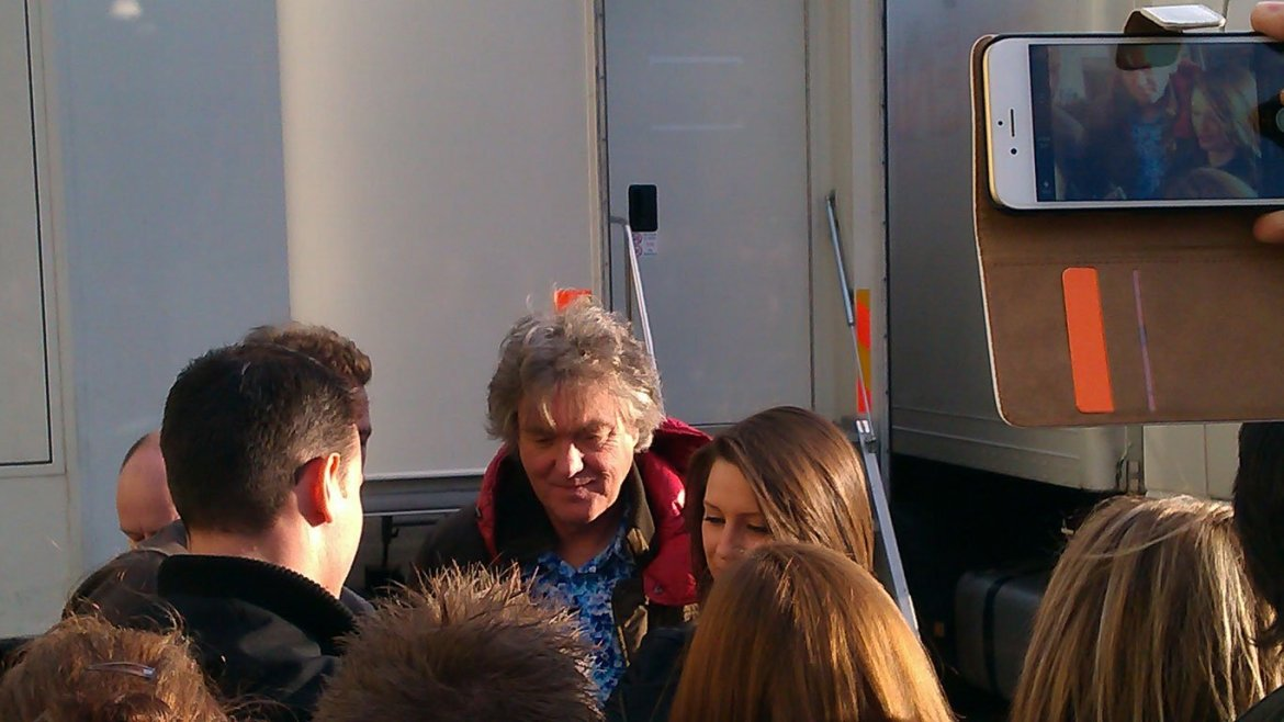 James May at filming of last ever Top Gear