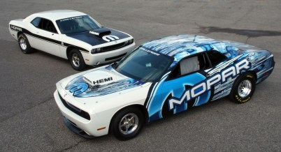 "2008 - Paying homage to its performance heritage, Mopar introduces its first factory-built drag race ""package car"" in 40 years, the Mopar Dodge Challenger Drag Pak."