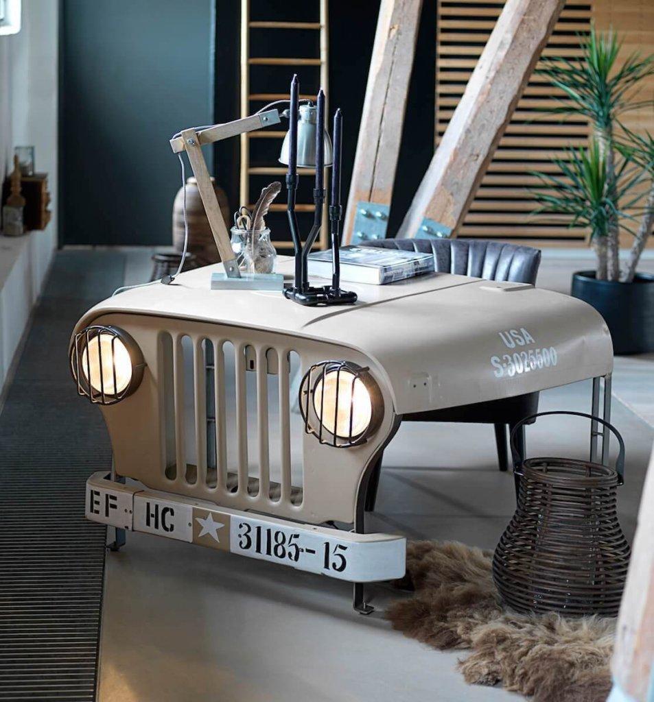 Vintage Office Desk Willys Jeep Desk
