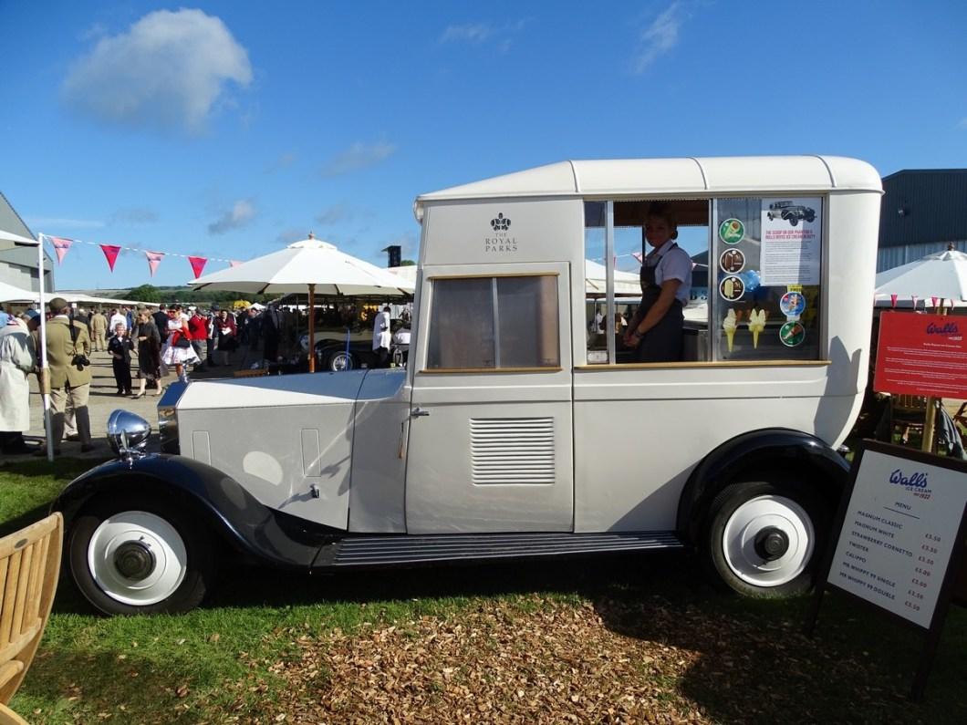 Vintage Rolls Royce Ice Cream Van at the Goodwood Revival 2017