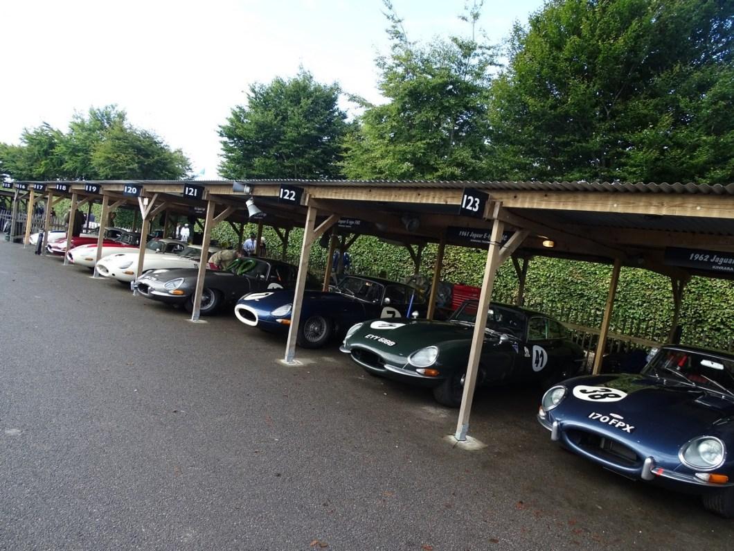 Jaguar's at the Goodwood Revival 2017
