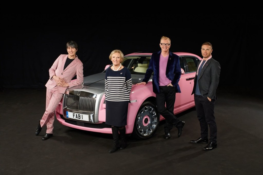 Pink Rolls Royce Ghost for Breast Cancer Awareness