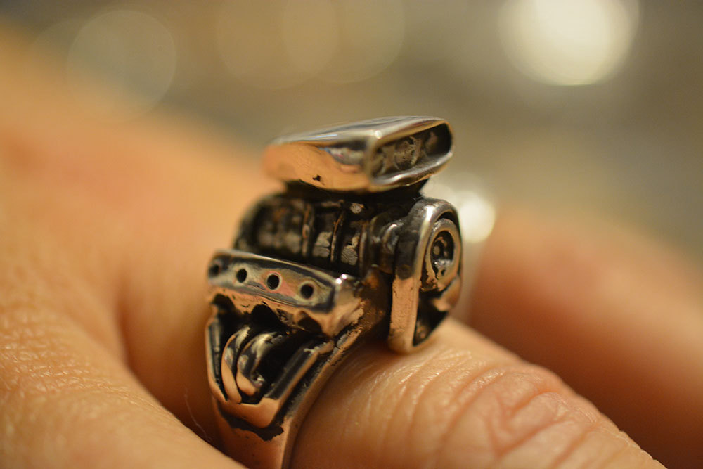 V8 hemi ring by Hi Octane Jewelry