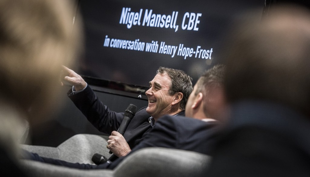 Nigel Mansell at The London Classic Car Show 2018