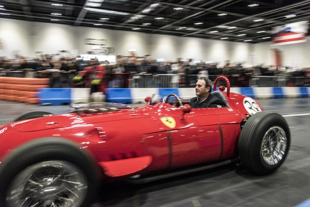 Nigel Mansell revs up on The Grand Avenue at The London Classic Car Show 2018