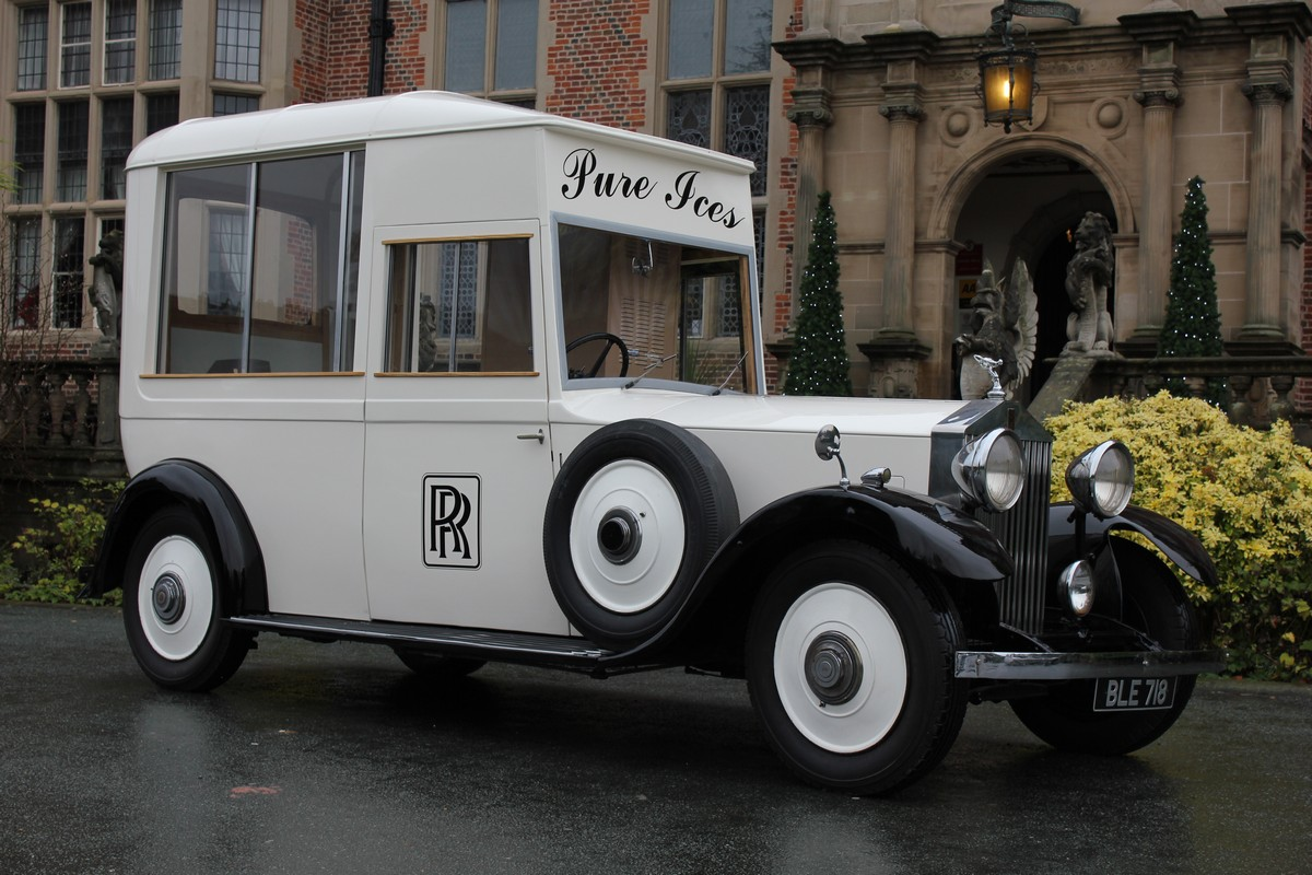 Rolls Royce ice cream van at Crewe Hall