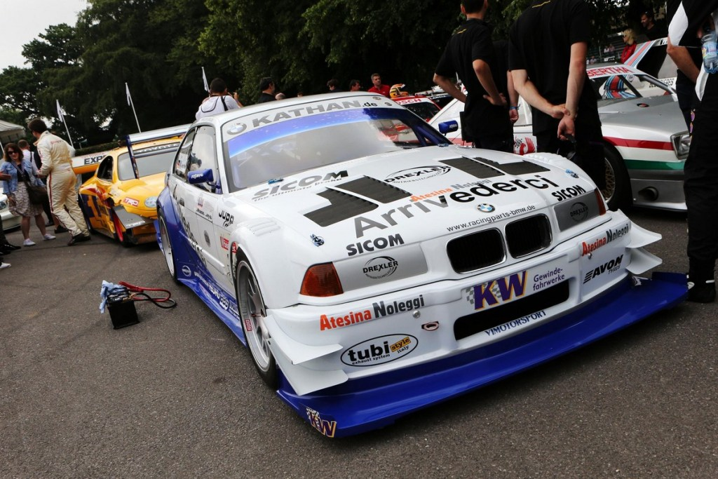 Joerg Weildinger driving BMW E36 V8 Judd - Goodwood Festival of Speed 2018