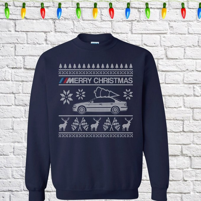 BMW E39 M5 car Christmas jumper