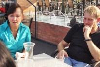 Wywiad na tarasie. – Dzięki rozmowie z Państwem, mamy chwilę na relaks – przyznają właściciele restauracji.