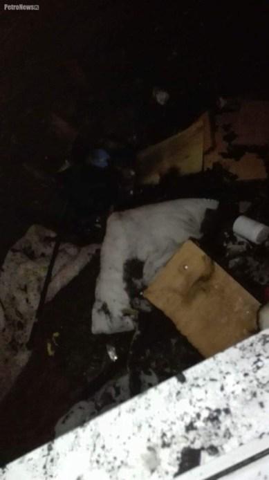 Internat po pożarze. Zdjęcie przesłane na Kontakt PetroNews